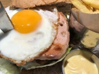 Burger mit Leber bzw Fleischkäse