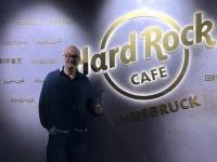 Mittagspause bei der Hinfahrt im Hard Rock Cafe Innsbruck