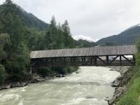 Ötztaler Ache mit Hochwasser