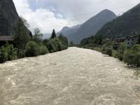 Ötztaler Ache mit Hochwassergefahr