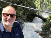 Viel Wasser beim Wasserfall