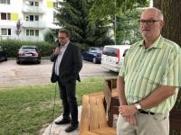 Bürgermeister Ollinger bei den Worten über Hans Leeb