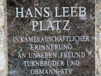Granittafel Hans Leeb Platz