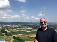Ruine Schaunberg Blick auf das Eferdinger Becken
