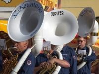 3 Sousaphone im Einsatz