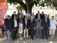 2019 07 12 Ehrenamtstag Land OÖ Linzer Landhaus ASVOÖ Funktionäre Handyfoto