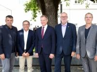 2019 07 12 Ehrenamtstag Land OÖ Linzer Landhaus LH Stelzer ASVOÖ Vizepräsidenten und ÖTB OÖ Obmann