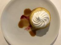 Dessert Gekühlte Bratapfel Karamell Sauce