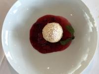 Dessert Marillenknödel und Brombeermelange