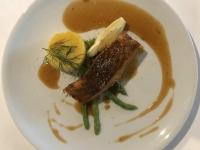 HS BBQ Lachs Steak und Polenta