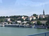 2019 07 21 Belgrad unser Schiff neben der Brankobrücke