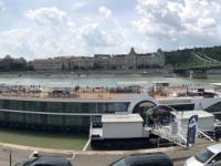 2019 07 19 Budapest Anlegestelle mit Franz Josef Brücke