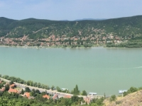 2019 07 19 Visegrad Blick auf das Donauknie Richtung Slowakei