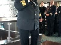 Kapitän Mihail Chebac bei der Begrüssung