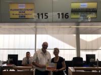 2019 07 31 Check In Flughfen Wien mit Kollegin Michi