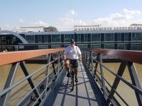 2019 08 02 Caudebec en Caux auf gehts mit dem Rad vom Schiff