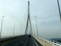 2019 08 03 Fahrt über die Ponte de Normandie nach Honfleur