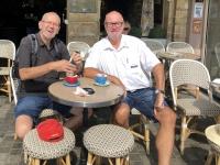 2019 08 03 Honfleur Kaffeepause mit Josef Holl