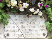 2019 08 05 Giverny Grab von Monet Tafel
