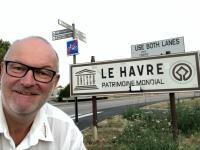 Frankreich Le Havre Unesco Tafel Einfahrt