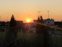 Sonnenuntergang schon in Traun