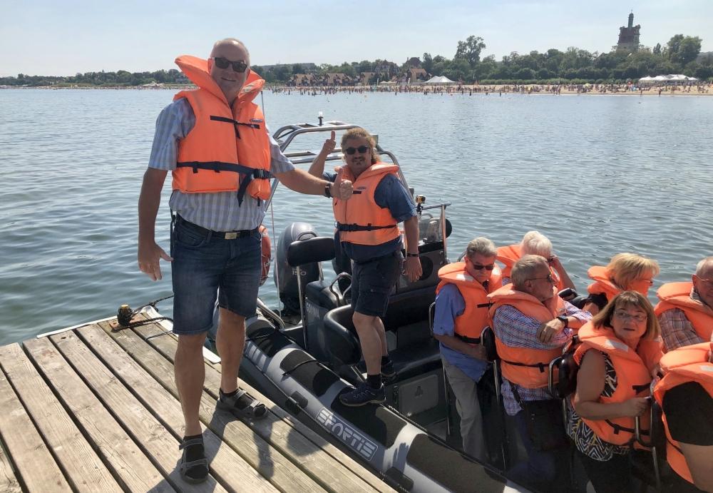 2019 08 23 Sopot Abfahrt mit Speedboot