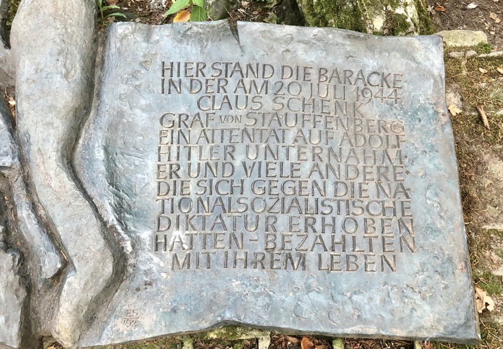 2019 08 24 Görlitz Führerhauptquartier Wolfsschanze Denkmal für Attentat