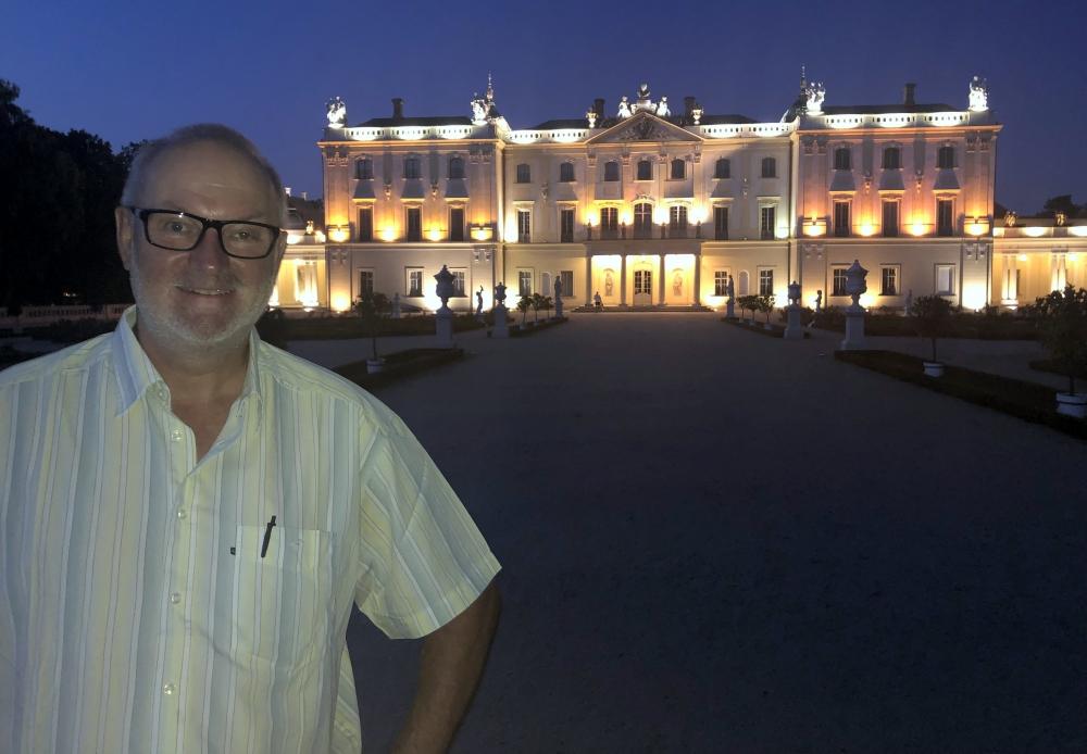 2019 08 25 Bialystok Branicki Palast bei Nacht