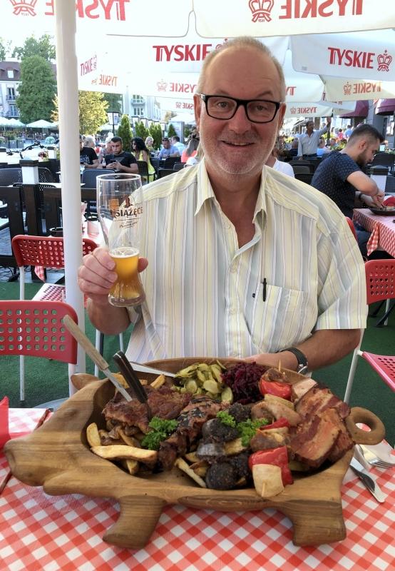 2019 08 25 Bialystok polnische Platte zum Abendessen