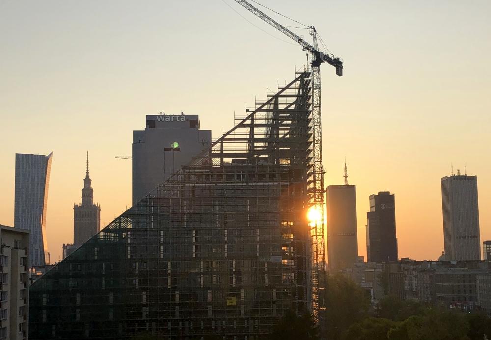 2019 08 28 Warschau Sonnenaufgang
