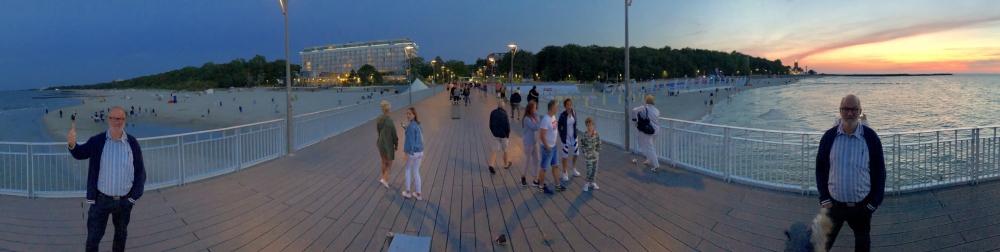 2019 08 22 Kolberg Panoramafoto auf der Pier
