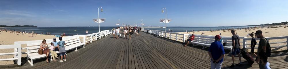 2019 08 23 Sopot Blick auf die lange Pier
