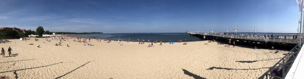 2019 08 23 Sopot Strand mit Pier