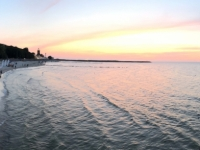 2019 08 22 Kolberg Sonnenuntergang von der Pier