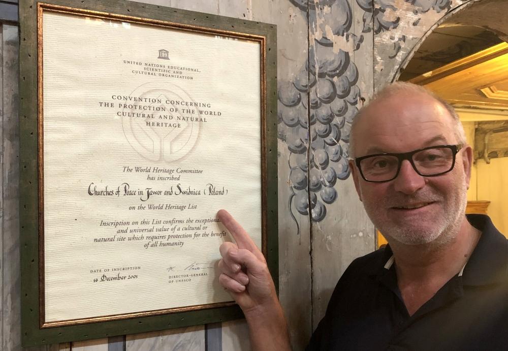 2019 08 20 Jawor Unesco Friedenskirche Tafel