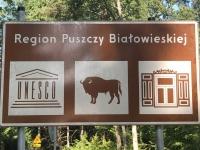 2019 08 26 Bialowieska Nationalpark Unesco Weltnaturerbe Tafel 1