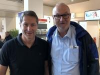 2019 09 08 Foda Franco ÖFB Teamchef am Flughafen Salzburg