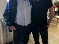 2019 09 08 Schöttel Peter ÖFB Sportdirektor am Flughafen Salzburg