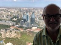 2019 09 09 Baku Blick vom Fernsehturm auf die Flame Towers