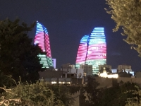 2019 09 09 Baku Nachttour Flame Towers