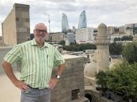 2019 09 09 Baku Palast Schirwanschahs Blick auf die Flame Towers