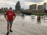 2019 09 10 Baku Kulturzentrum Heydar Aliyev Blick in die Stadt