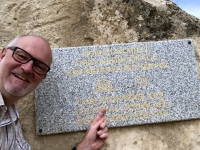 2019 09 10 Gobustan Felszeichnungen Unesco Tafel