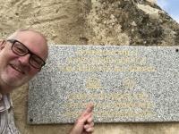 Aserbaidschan Felsbilder und Kulturlandschaft von Gobustan Tafel