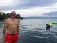 Kurze Erfrischung im Mittelmeer
