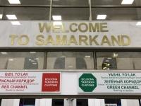 2019 09 28 Samarkand Flughafenankunft