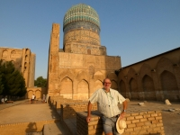 2019 09 28 Samarkand Moschee Bibi Khanum bei tollem Wetter