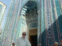 2019 09 28 Samarkand Nekropole Shaki Zinda Eingang zu einer Grabstätte