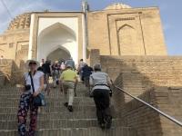 2019 09 28 Samarkand Nekropole Shaki Zinda Stiegenaufgang