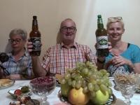2019 09 29 Samarkand Abendessen bei RL zu Hause Prost